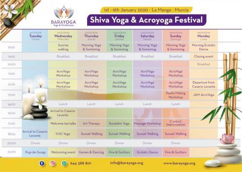 Calendar shiva yoga